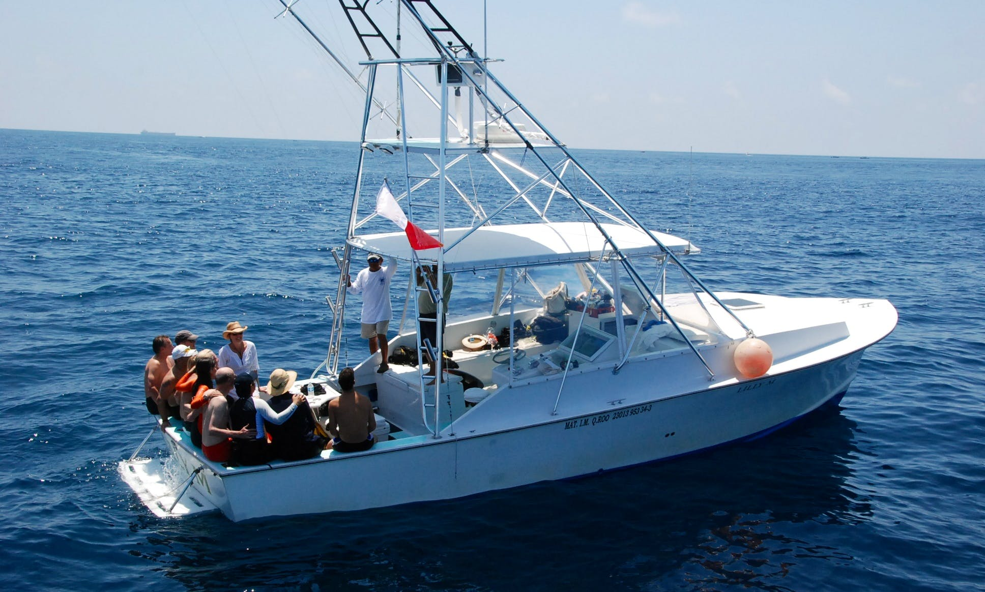 """Lilly M"" 36' Sport Fisherman, Fishing Charter in Isla Mujeres, Mexico"