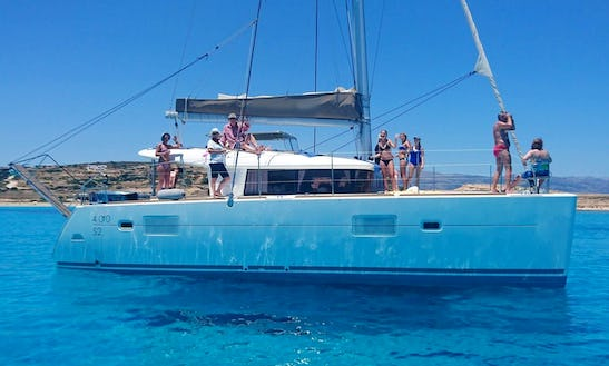 Charter & Daily Cruise 40ft Lagoon 400 S2 Cruising Catamaran In Naxos, Greece