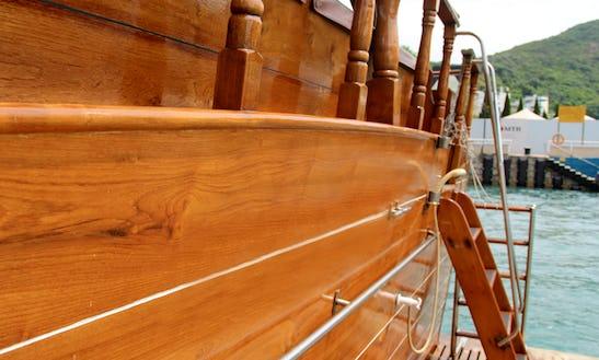 Swissy Junk Boat In Hong Kong
