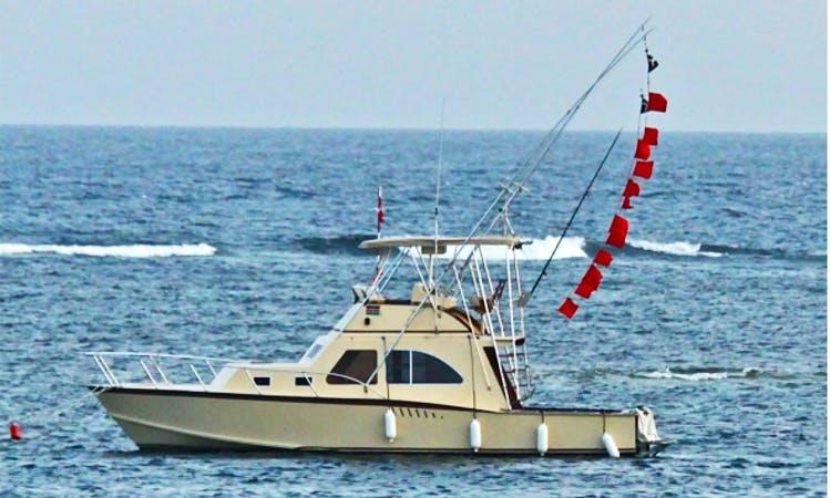 Charter Fishing in Mombasa, Kenya on 38' Sport Fisherman