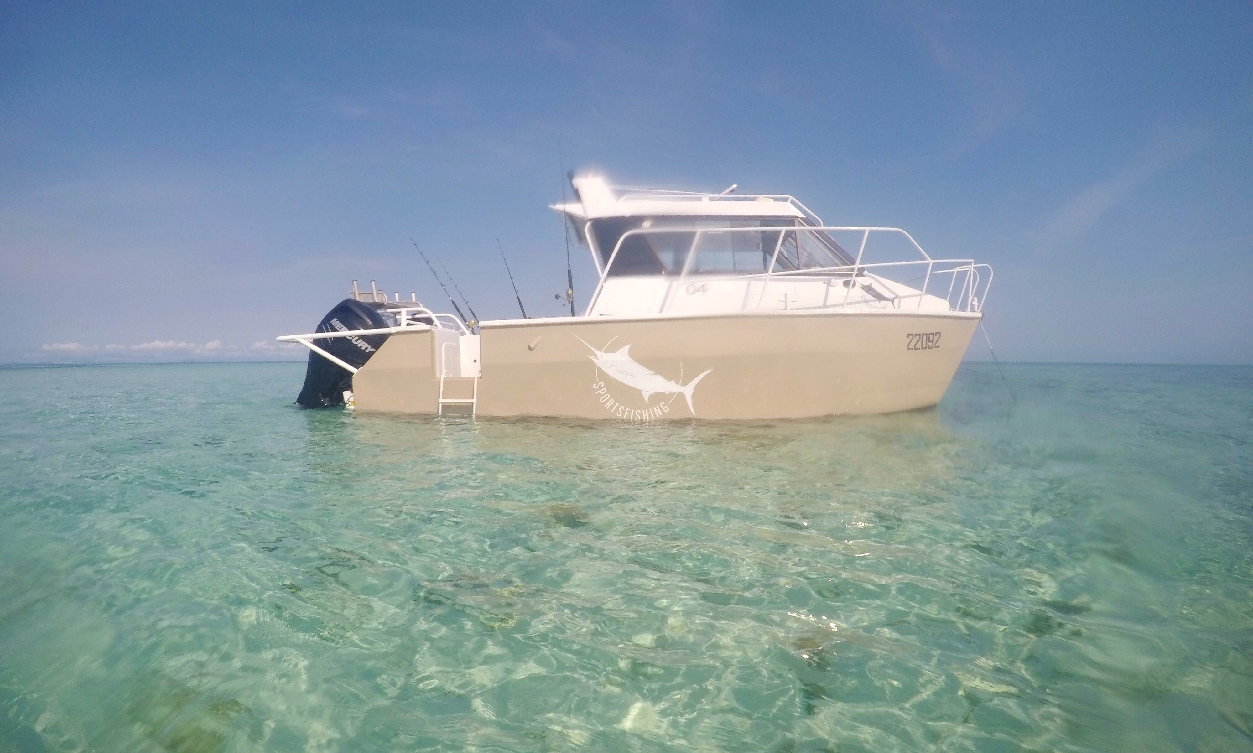 Power Catamaran in Flying Fish Point