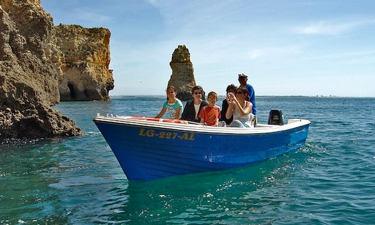 Experience Cruising On 18ft Center Console Boat In Lagos, Portugal