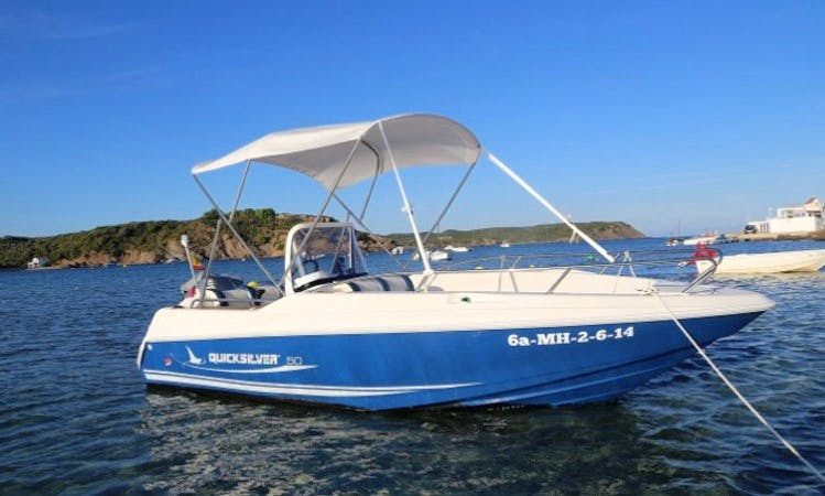 "Ride the Quicksilver Commander 500 ""Chanila"" in Menorca, Spain"