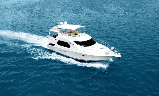 48 Ft Motor Yacht In Miami Beach, $400 Discount For Day Trips
