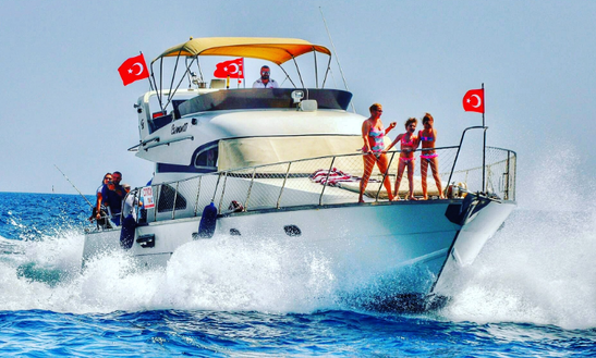 Luxury Boat Tours On A Motor Yacht In Antalya, Turkey