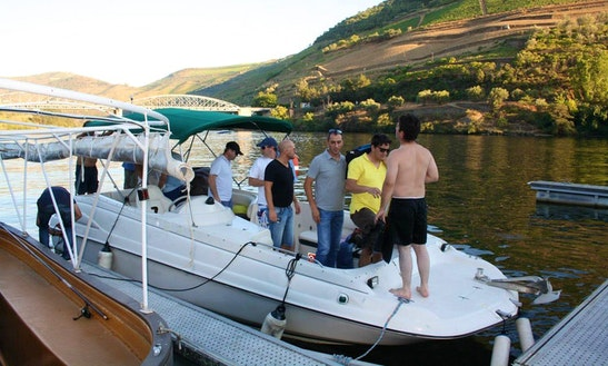 Charter A Deck Boat On Douro River In Pinhão, Portugal