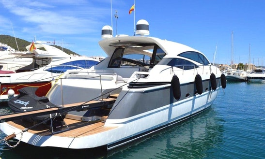 Charter 64' Pershing Power Mega Yacht In Santa Eulària Des Riu, Spain