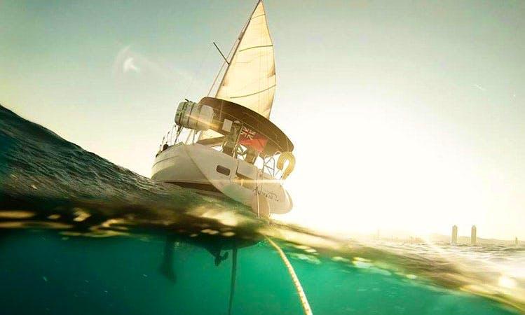 31ft Beneteau Oceanis Clipper Cruising Catamaran Boat Charter in Barcelona, Spain