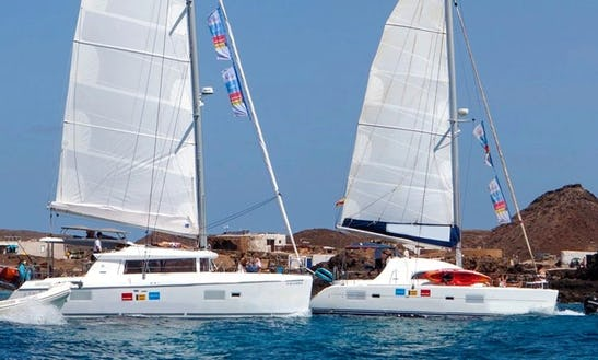 Lagoon 421 Catamaran Excursions In Corralejo To Lobos Island