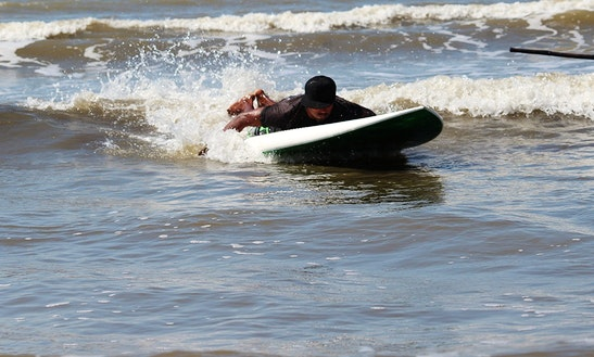 Enjoy Body Boarding In Gorai, Maharashtra