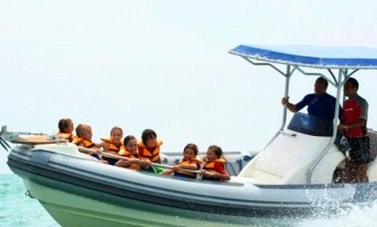 Rent 25' Semi Regid Speedboat In Chiclana De La Frontera