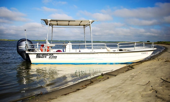24ft, 12 Passenger Boat Charter In Folly Beach, South Carolina