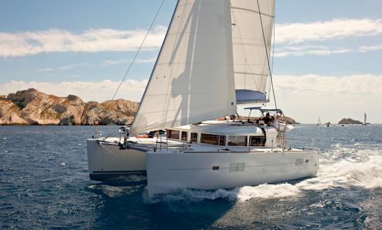 Charter 40' Lagoon 400s2 Cruising Catamaran In Sant Antoni De Portmany, Spain