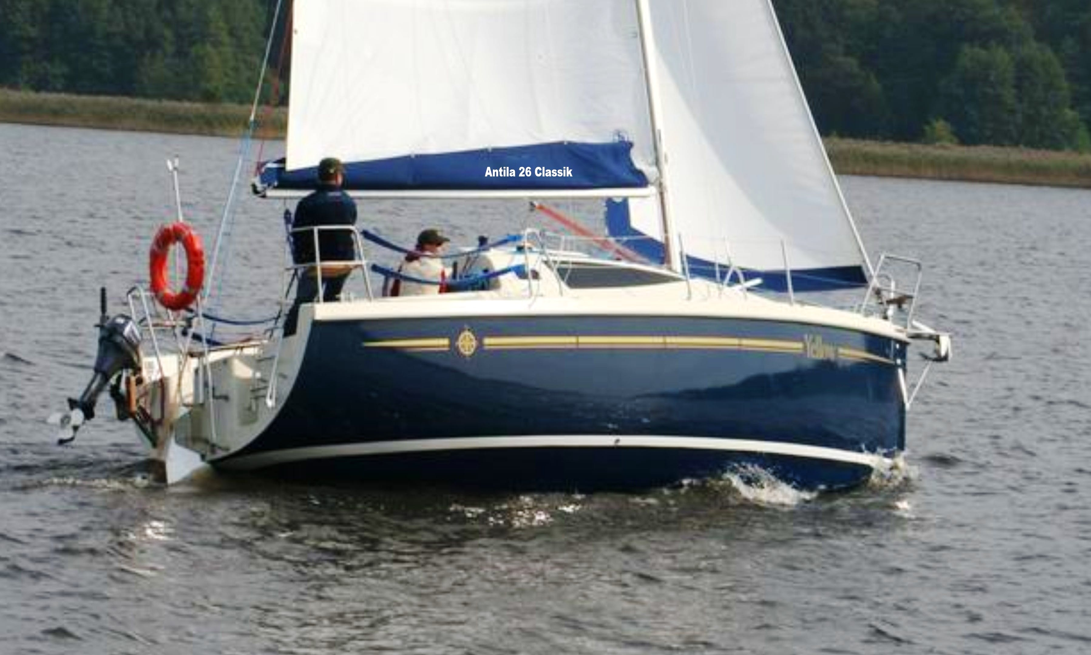 Belarus - travel on the Braslaw lakes on the yacht Antil 26cl Traveler