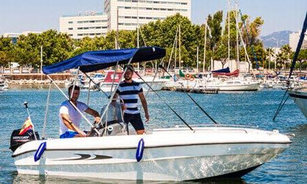 "16ft ""Cassiopeia"" Deck Boat Rental In Palma Mallorca, Spain"