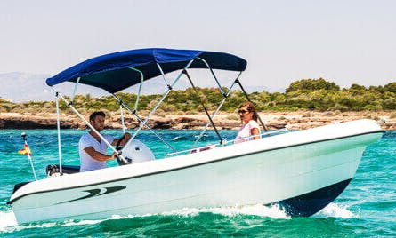 "16ft ""Perseus"" Deck Boat Rental In Portocolom, Spain"