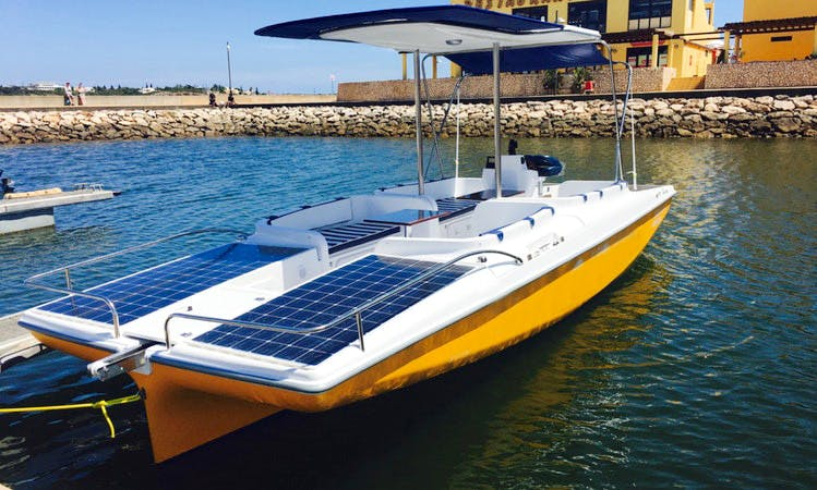 Private Eco-Friendly Solar Powered Boat Rental in Portimão, with Captain