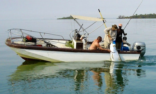 Enjoy Fishing In Banjul, Gambia On Center Console