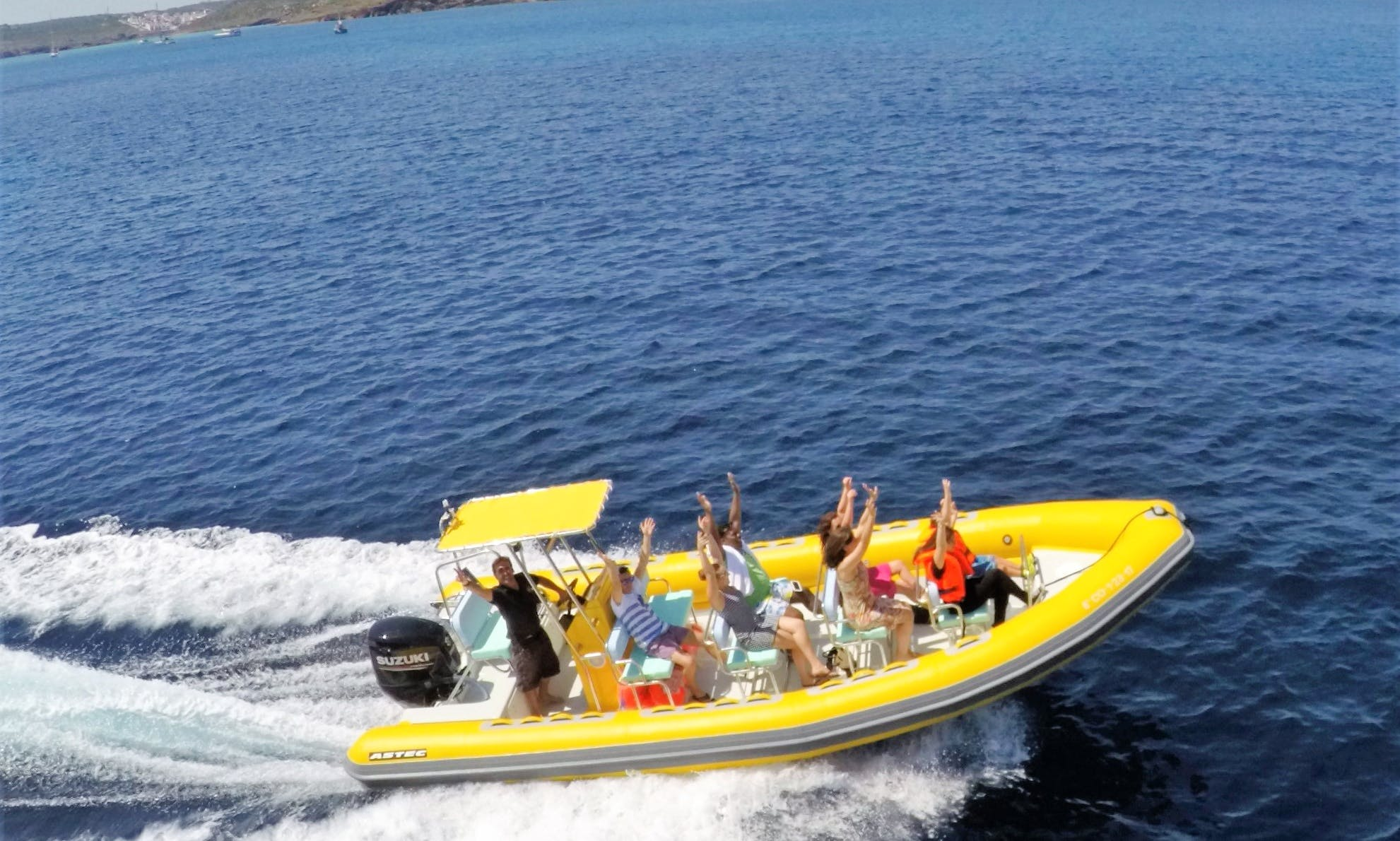 Exclusive Boat Trips on RIB in the islands of Menorca, Spain