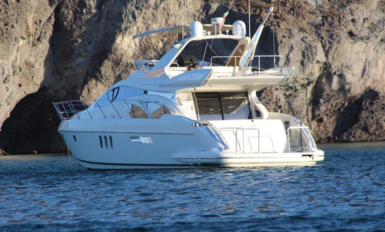 55' Azimut champagne luxury Yacht Charter