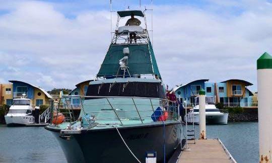 Enjoy Fishing in West Rockhampton, Australia on 60' Pedro ll Sport Fisherman