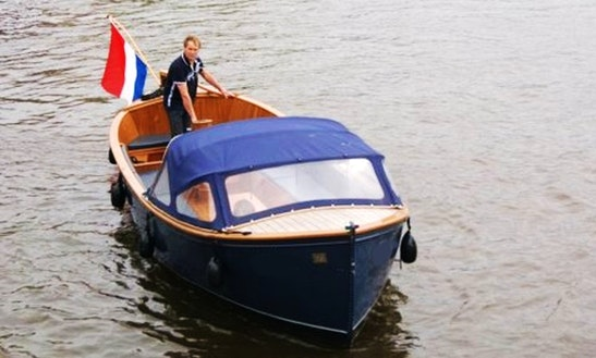 Charter 40' Electric Boat In Amsterdam, Netherlands