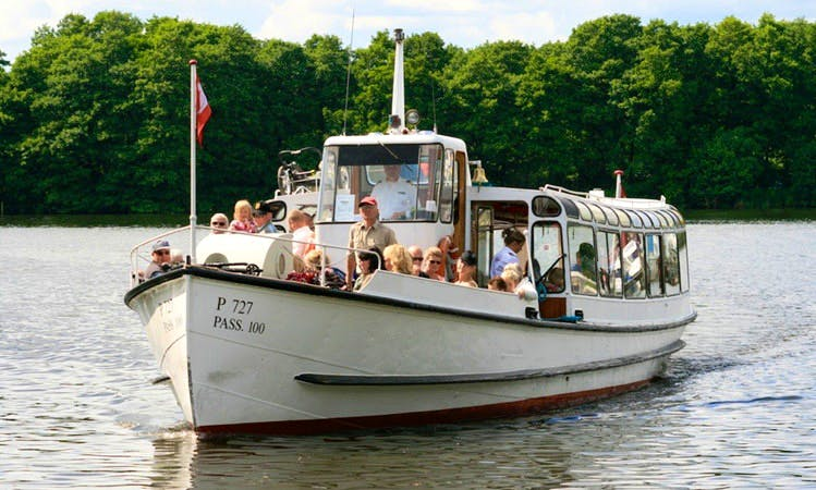 "Charter ""The Tourist"" Canal Boat in Silkeborg, Denmark"