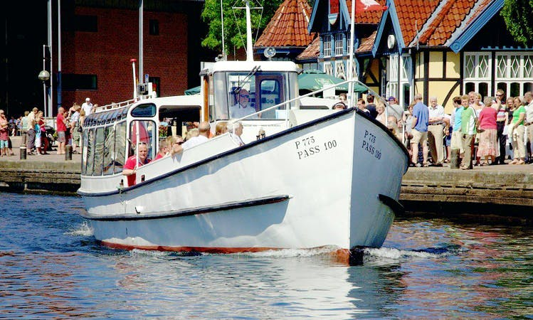 "Charter 1948 ""Rylen"" Canal Boat in Silkeborg, Denmark"