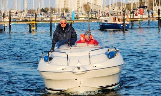 Rent 15' Quicksilver Motor Boat In Fehmarn