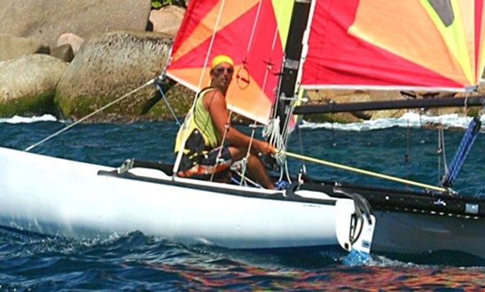 17' Hobie Cat Sailing In Großenbrode, Germany