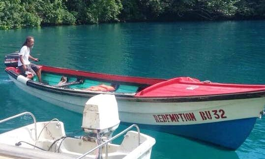 Enjoy Fishing in Negril, Jamaica on a Dinghy Boat