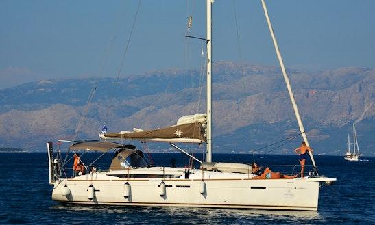 Jeanneau Sun Odyssey 449 Sailing Yacht Charter In Lefkas Perigiali, Greece