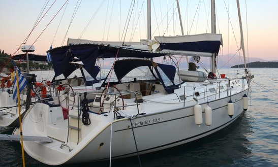 Rates Start At €429 Per Day To Charter This Beneteau Cyclades 50.5 Sailing Yacht In Lefkas Perigiali, Greece