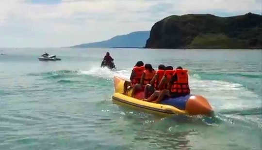 Have Fun On Boracay Island In The Philippines On A Banana Boat Ride!