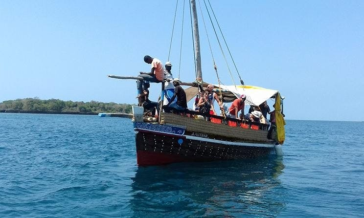 Discover the beauty of Diani Beach, Kenya on a 16 person Gulet