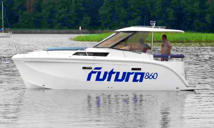 """Futura 860"" Motor Yacht Charter in Giżycko"