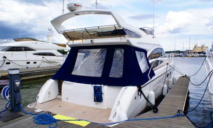 Elegant and Entertaining Princess P42 Motor Yacht Sailing to Finland