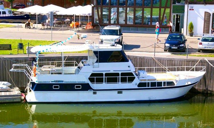 Charter 44' Sara Motor Yacht in Klaipėda, Lithuania
