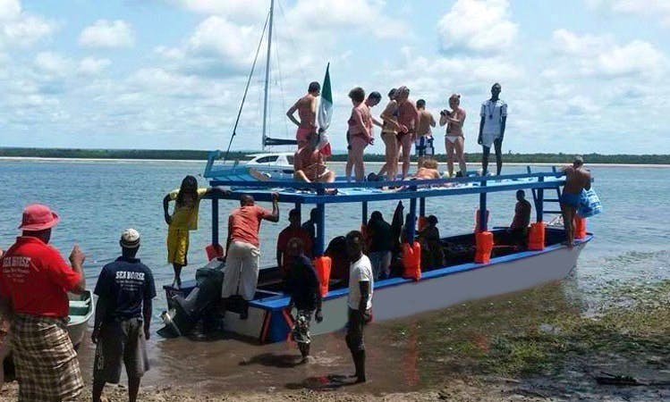 Charter a 45 person Passenger Boat in Watamu, Kenya for your next glass bottom boat adventure