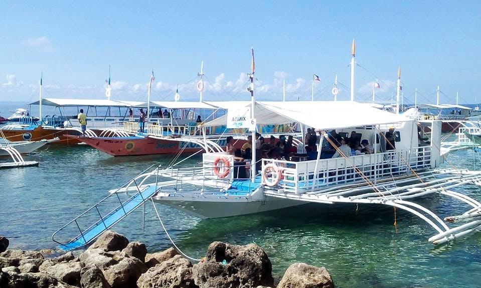 Filipino Traditional Boat for Rent in Cordova, Philippines