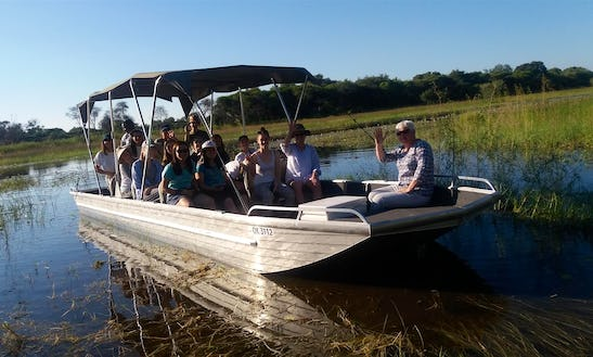 Charter A 16 Person Pontoon Boat In Maun, Botswana For You Next River Adventure