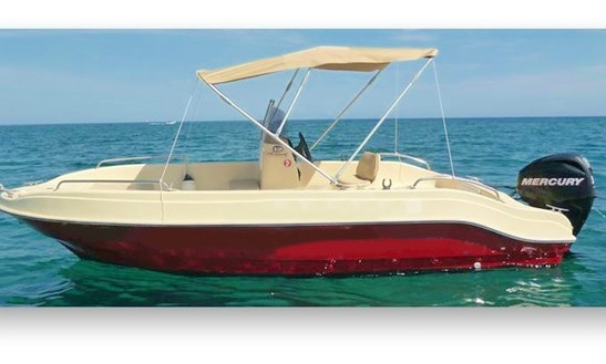 16' Protefs Afaia 495 Deck Boat Rental In Rodos, Greece