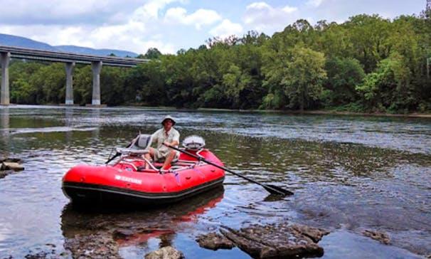 Enjoy Fishing On Raft Boat In Wytheville, Virginia