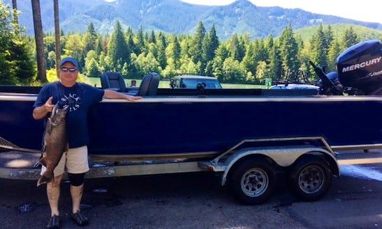 Enjoy Fishing In Silver Lake ,washington With Captain Tony