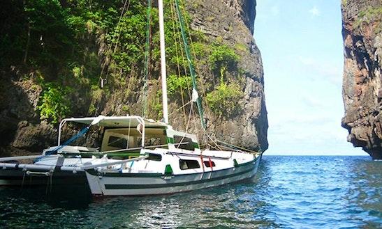 30' Tiki Cruising Catamaran Charter In Ao Yon,phuket ,thailand