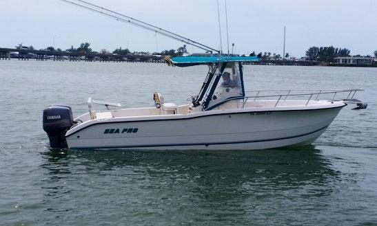 Enjoy Fishing On 25' Sea Pro Fishing Center Console In Bradenton Beach, Florida