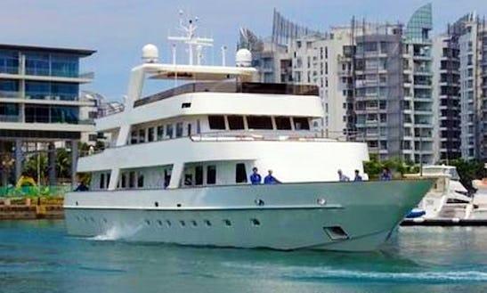 Charter 128' Corporate Retreat Luxury Yacht In Serapong, Singapore