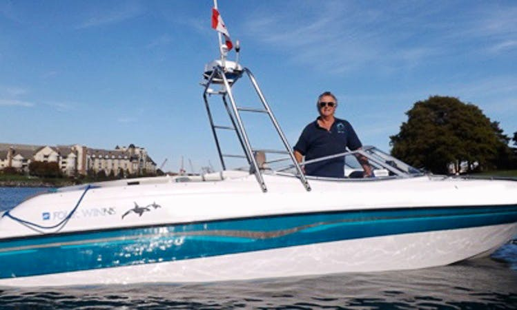 24ft FourWinns Bowrider Boat Rental in Victoria, British Columbia