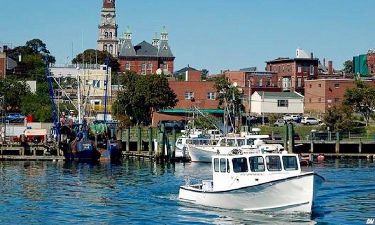 """Fishing Charter On 35ft """"Amanda Marie"""" Custom Duffy Boat In Gloucester, Massachusetts"""
