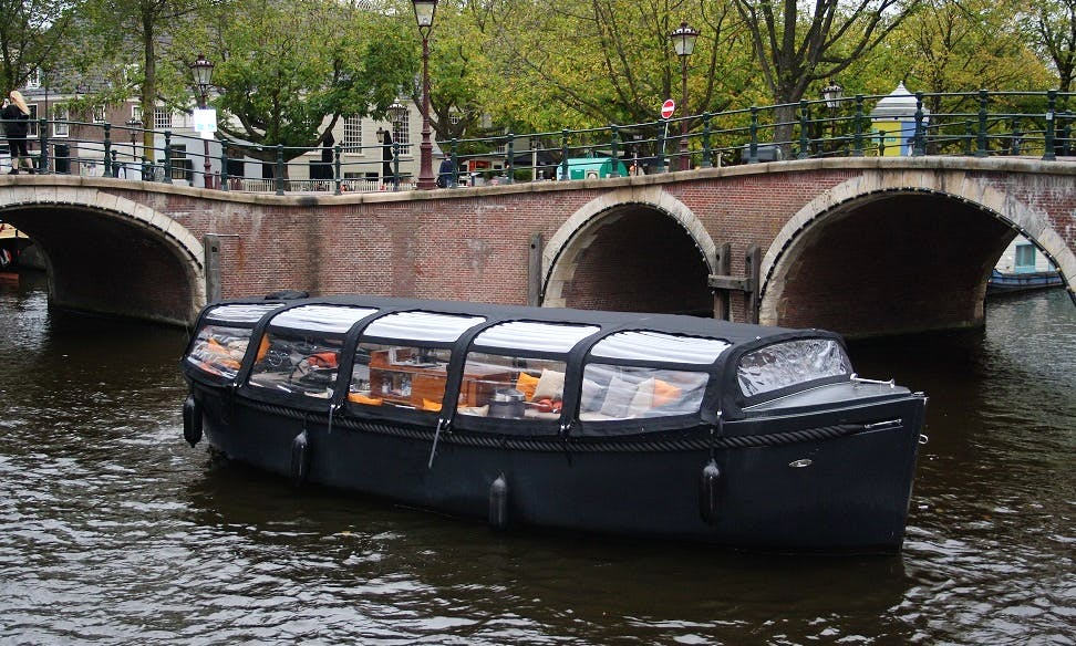 Private Tour On Electric Canal Boat In Amsterdam, The Netherlands